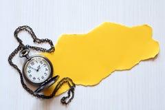 纸手表 免版税库存图片