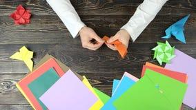 纸折叠的艺术 股票录像