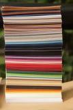 纸抽样人员 免版税图库摄影