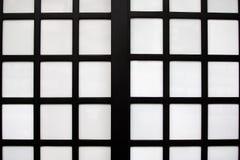 纸日本样式的传统门 免版税库存图片