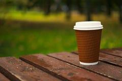 纸杯拿走咖啡 库存照片