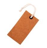 纸板与绳索的价格标签笔记 库存图片