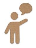纸板云彩人消息符号 库存图片