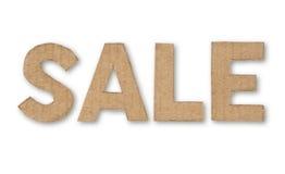 纸板做减速火箭的销售额字 免版税库存图片