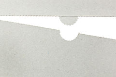 纸板剪切表单 库存图片