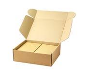 纸板包裹箱子 库存照片