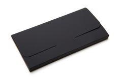 黑纸板包裹箱子 3d背景配件箱回报白色 免版税图库摄影