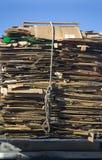 纸板回收 免版税库存图片