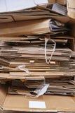 纸板垃圾 回收并且重复利用纸盒废物 清洗environme 库存照片