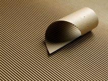 纸板成波状的卷 库存照片