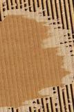 纸板成波状的被撕毁的难看的东西纹理样品 免版税图库摄影