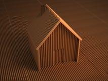 纸板房子 图库摄影