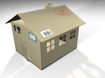 纸板房子 免版税库存图片