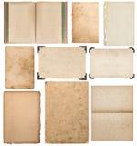 纸板料,书,与角落集合剪贴薄的照片框架 库存照片