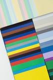 纸板杂色构成的设计员 库存图片