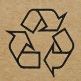 纸板标记回收 免版税图库摄影