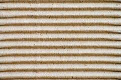 纸板波纹状水平 免版税库存照片
