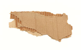 纸板波纹状的部分 库存图片
