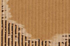 纸板波纹状的难看的东西纹理样品 库存照片