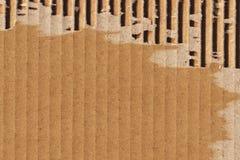 纸板波纹状的难看的东西纹理样品 免版税图库摄影