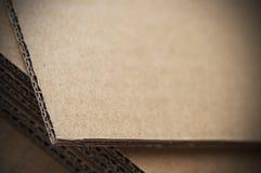 纸板波纹状的页 库存图片