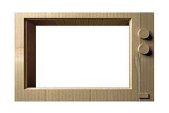 纸板电视 库存图片