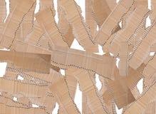 纸板的收集在空白背景编结 库存照片