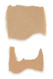 纸板的收集在空白背景编结 免版税库存照片