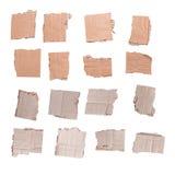 纸板的汇集在白色背景编结隔绝 免版税库存照片