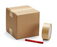 纸板箱和包装 免版税库存照片