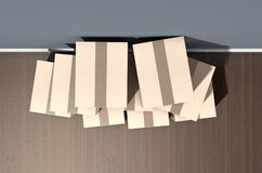 纸板箱堆议院 库存图片