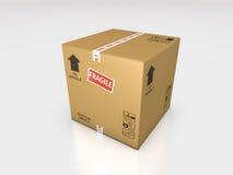 纸板箱3d例证 免版税图库摄影