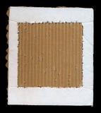 纸板纸框架 库存照片