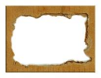 纸板纸盒框架 图库摄影
