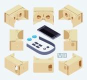 纸板虚拟现实的等量部分 免版税库存照片
