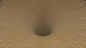 纸板蠕虫孔漏斗隧道飞行无缝的圈动画背景新的质量葡萄酒样式凉快好美丽 皇族释放例证