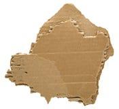 纸板被撕毁的粗胶边 库存照片