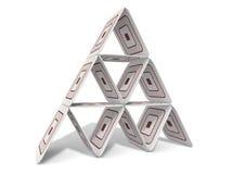 纸板金字塔 免版税库存图片