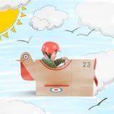 纸板飞机  免版税图库摄影