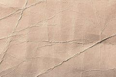 纸板,被弄皱的纸纹理与弯的 免版税库存照片