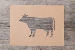 纸母牛 免版税库存图片