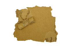 纸波纹状的被剥去的边缘隔绝了白色 免版税库存照片