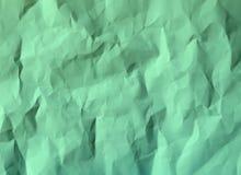 纸浅绿色被弄皱的纹理的颜色 库存图片
