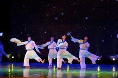 纸爱好者学者2中国民间舞 免版税库存图片
