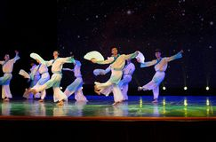 纸爱好者学者3中国民间舞 免版税图库摄影