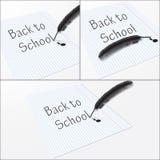 纸片与字的回到学校 库存图片