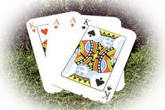 纸牌一点和国王 免版税库存照片