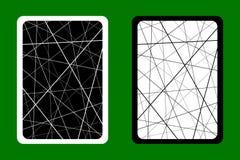 纸牌后面设计-任意混乱线提取几何样式 向量例证