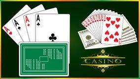 纸牌游戏向量 库存图片