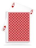 纸牌游戏向量 免版税库存照片